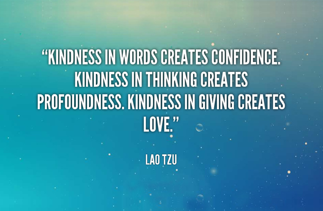 the important of kindness